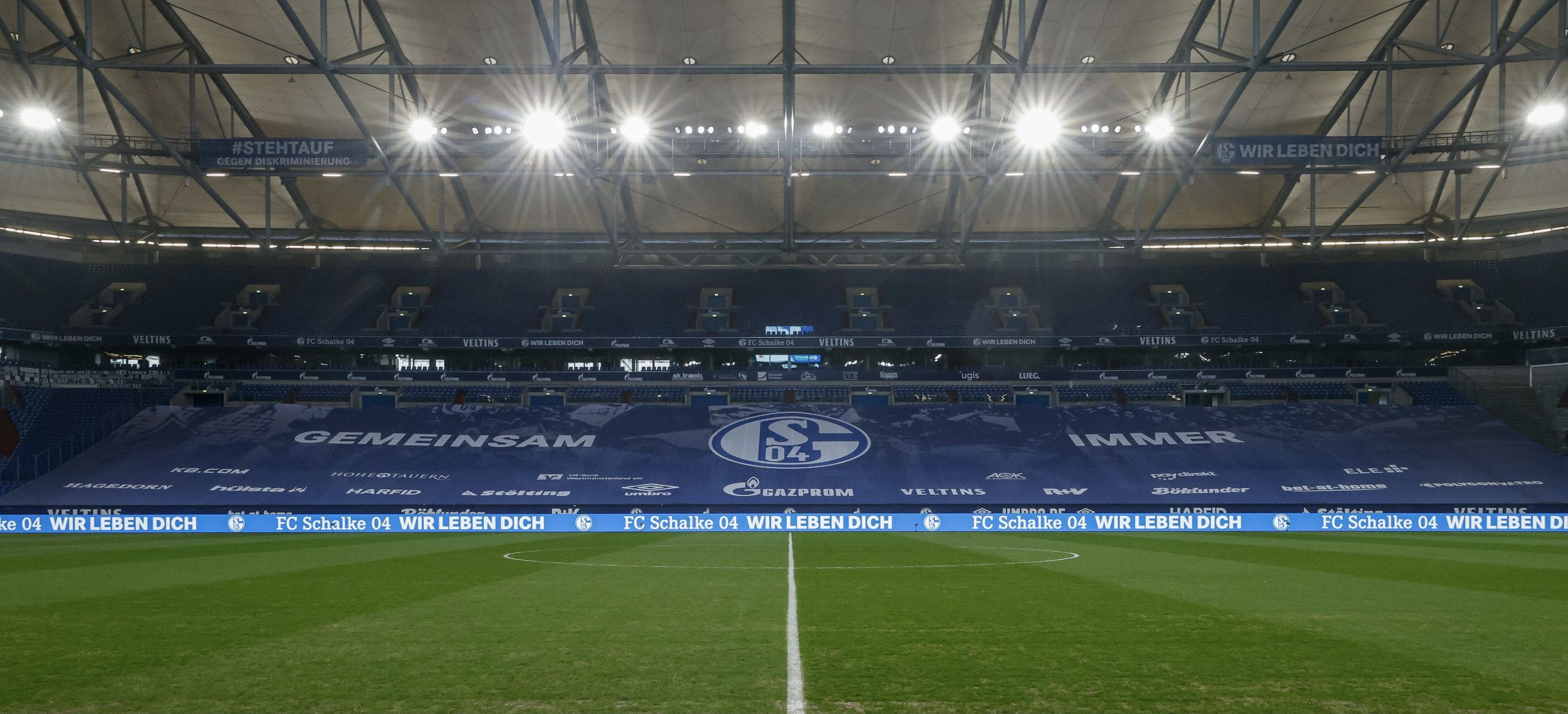 FC Schalke 04, TSG 1899 Hoffenheim, Saison 2020/2021, Bundesliga, 9.01.202, Großformat, Großformatbanner